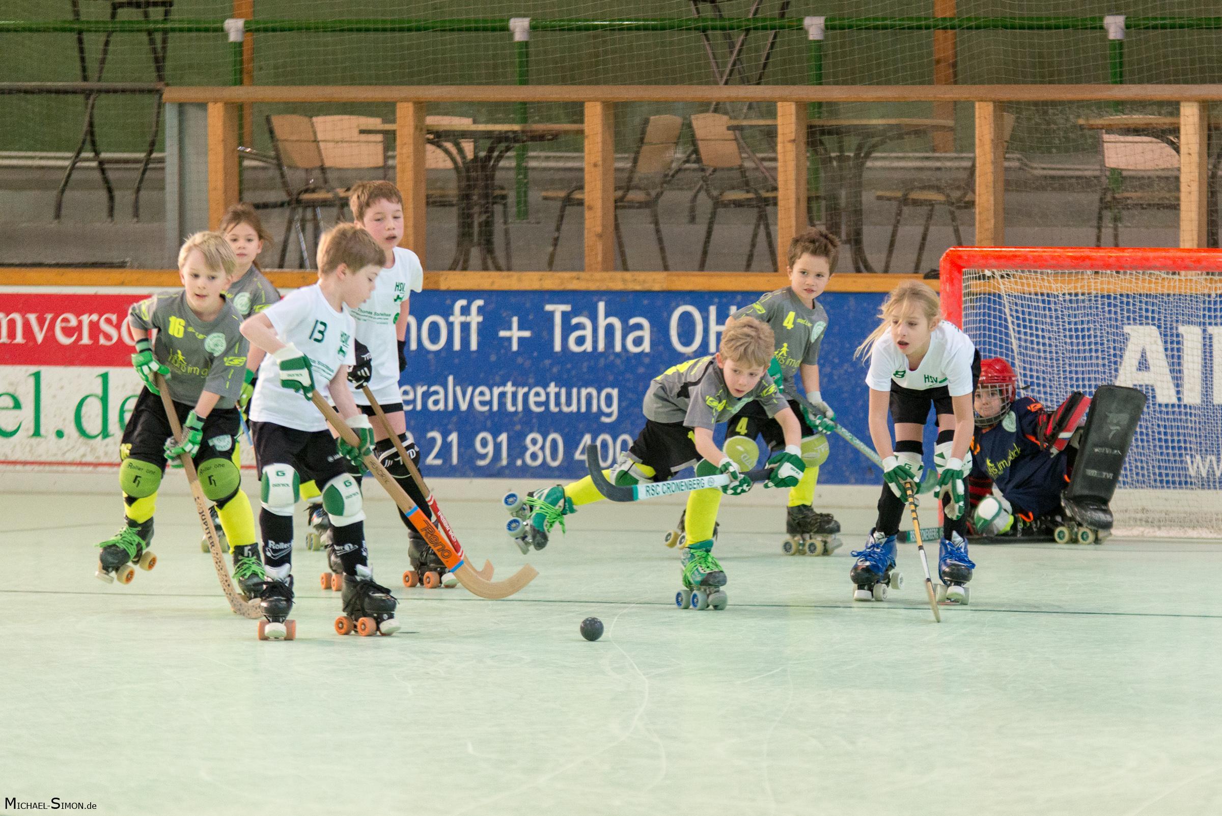 RSC Cronenberg Rollhockey Spieltag U9 14.01.2018