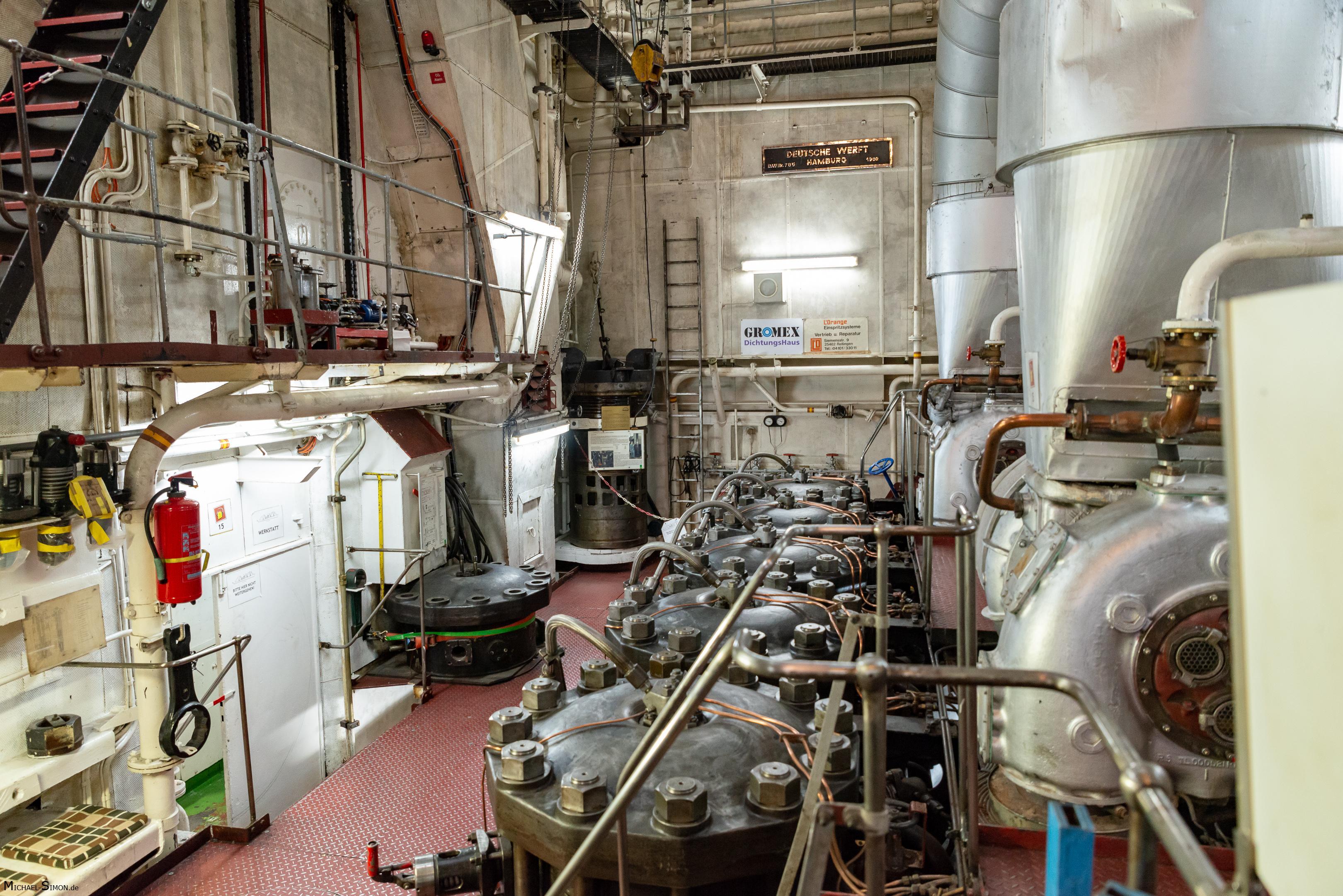 Maschinenraum Museumsschiff Cap San Diego