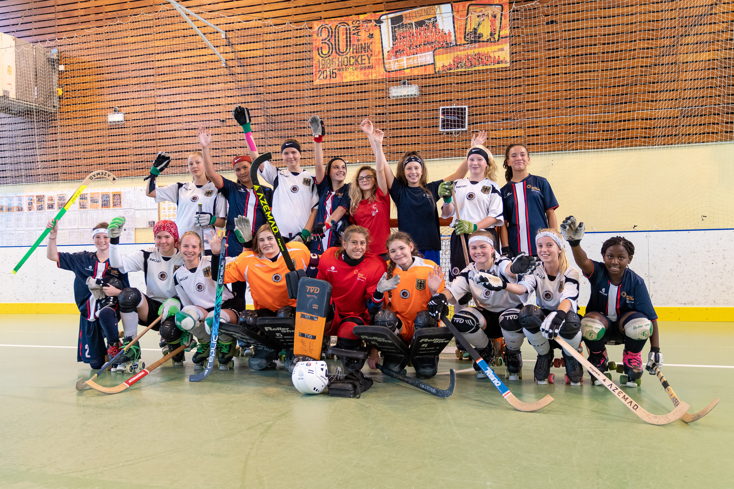 Rollhockey Nationalmannschaft U15w Turnier in Noisy Le Grand (Frankreich)
